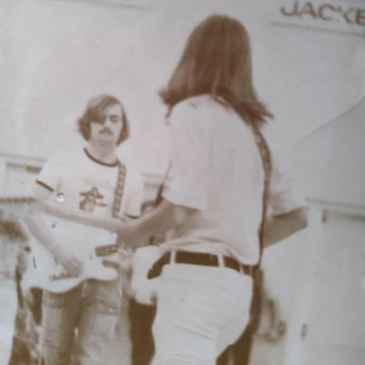 With Bob McDonald in high school (yes, that's me)